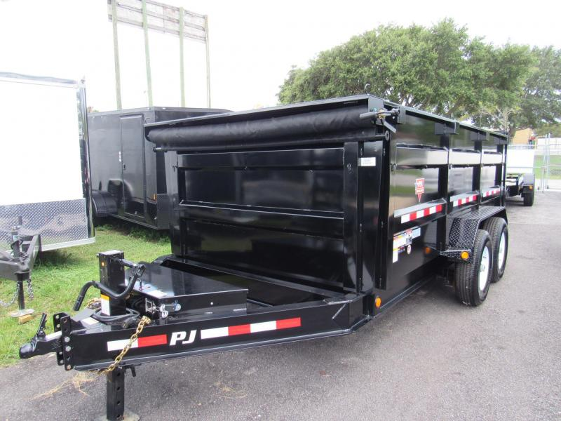 "2019 PJ Trailers 14'x83"" Low Pro High Side Dump Trailer"