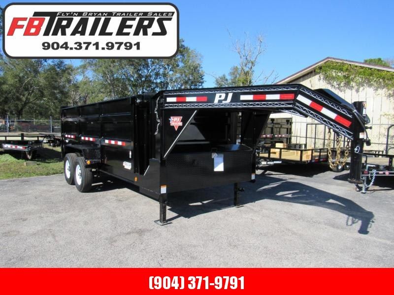 2019 PJ Trailers 16 ft Gooseneck Dump Trailer