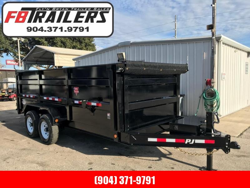 2019 PJ Trailers 16ft with 4ft HIgh Sides Dump Trailer