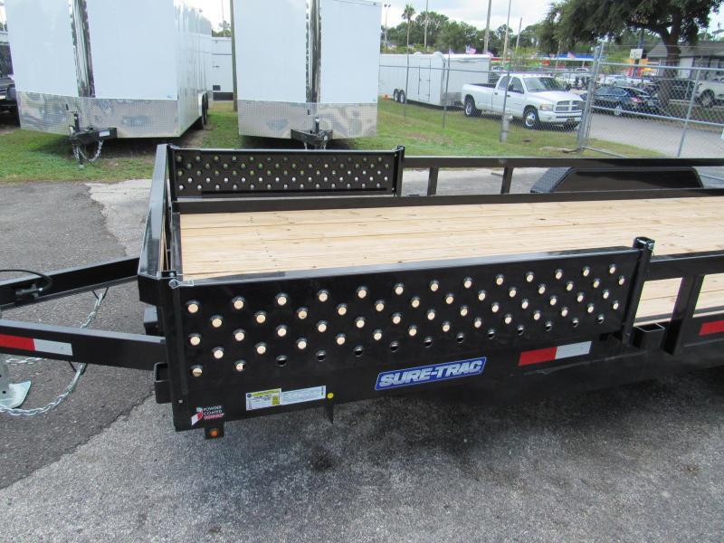 2019 Sure-Trac 7x20 ATV Sides Utility Trailer