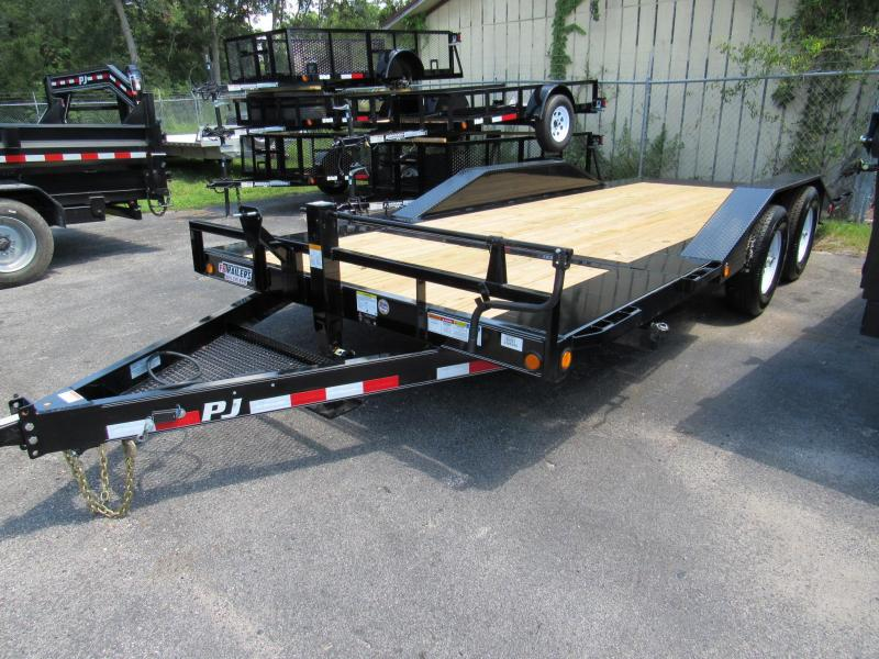 "2019 PJ Trailers 20' x 6"" Channel Super-Wide Tilt Trailer"