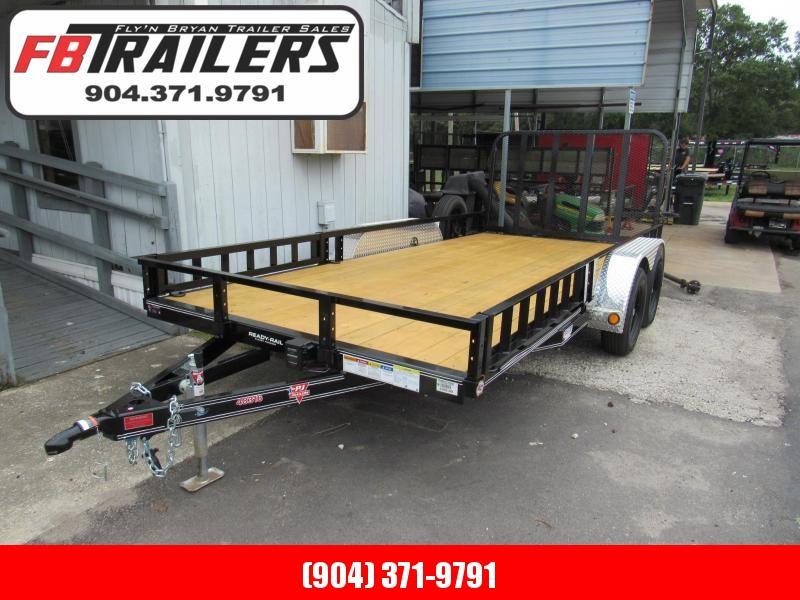 2019 PJ Trailers 7X16 ATV Sides Utility Trailer
