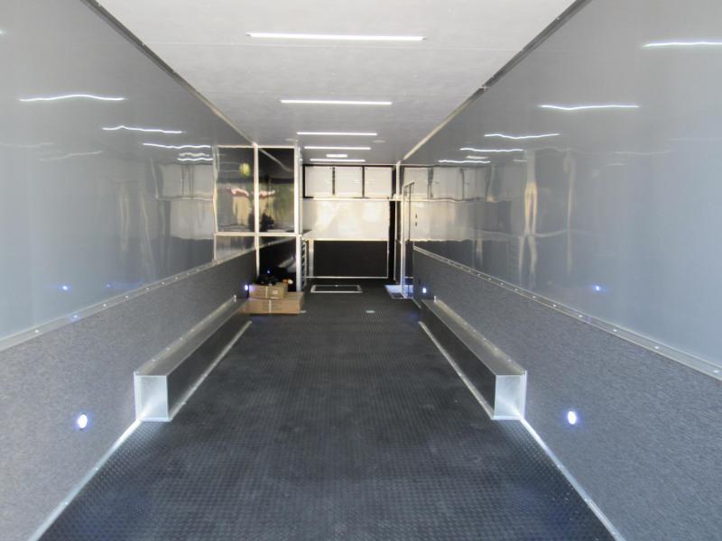 2020 Cargo Mate 34ft Blackout Trim Auminum Frame Car / Racing Trailer