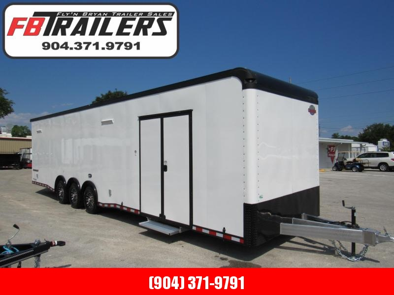 2020 Cargo Mate 34ft Blackout Trim Auminum Frame Car / Racing Trailer