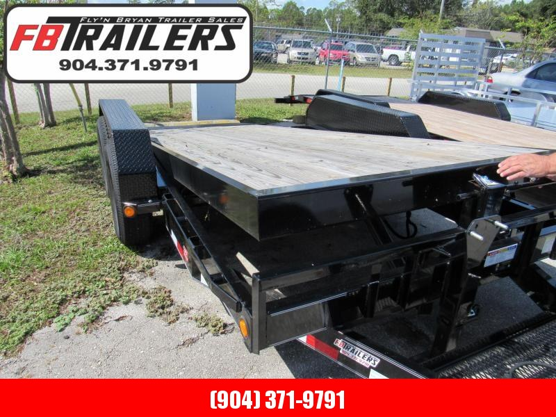 "2019 16' Tilt  6"" Channel Equipment  Car Trailer by PJ Trailers"