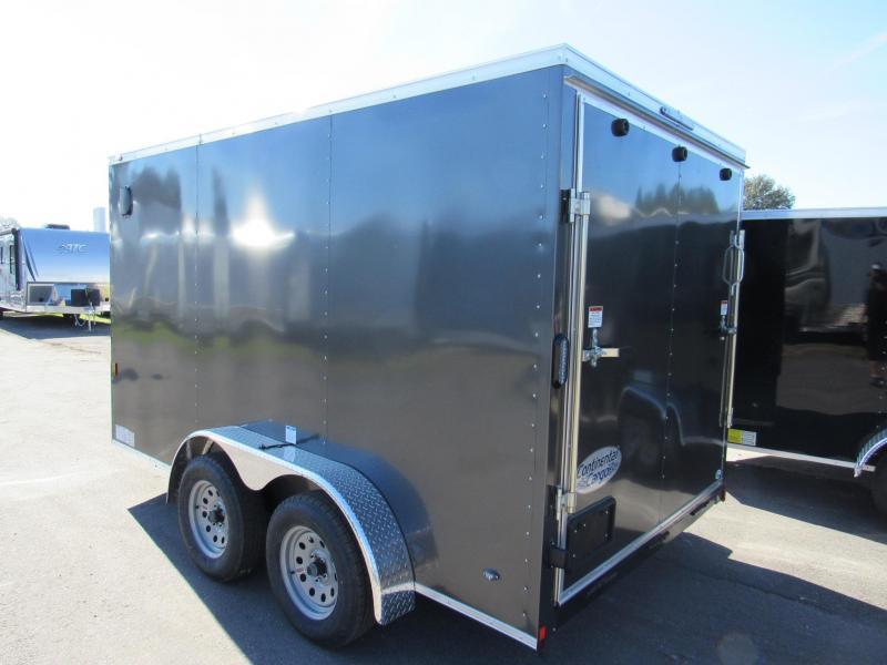 2020 Continental Cargo 7X12 Tandem Axle Enclosed Cargo Trailer