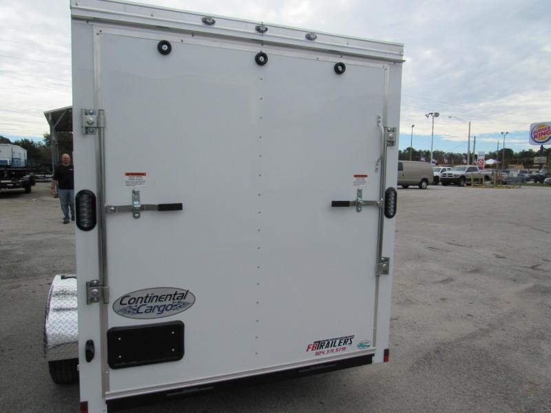 2019 Continental Cargo 6X10 Ramp Door Enclosed Cargo Trailer