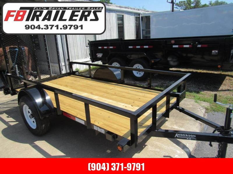 2020 Anderson Manufacturing 5x10 Utility Trailer