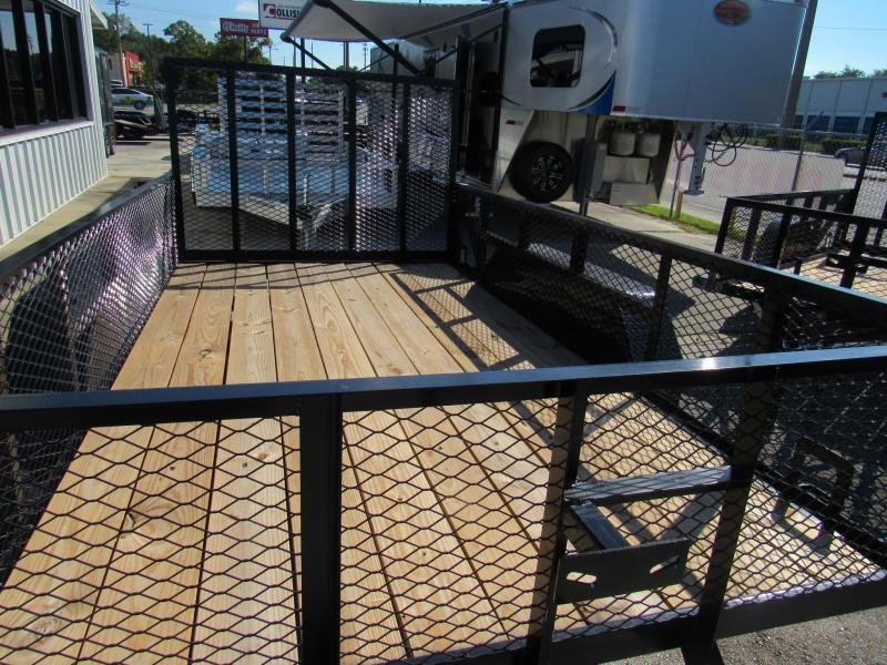 2018 Anderson Manufacturing 6x12 Utility w/mesh sides Enclosed Cargo Trailer