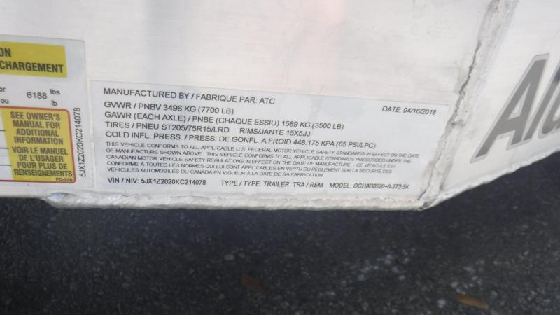 2019 20' Open  All Aluminum Car Trailer by ATC