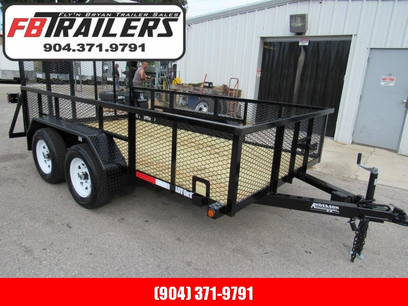 2019 Anderson Manufacturing 6X12 2ft Mesh Side Utility Trailer