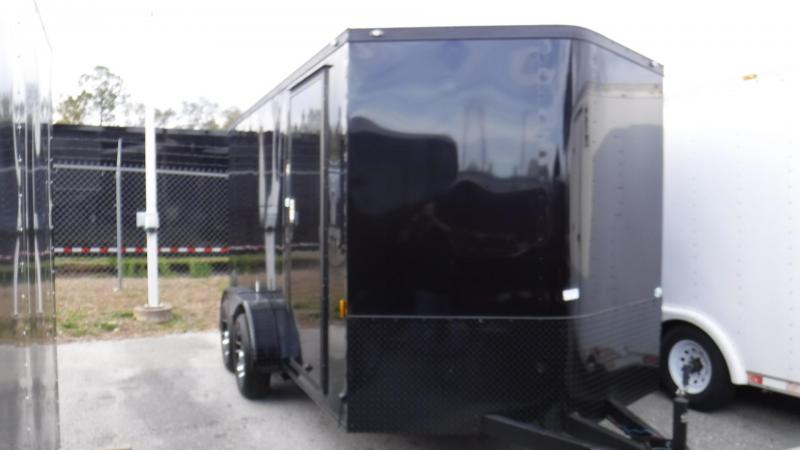 2018 7x14 BLACK OUT PACKAGE Enclosed Cargo Trailer by Continental Cargo