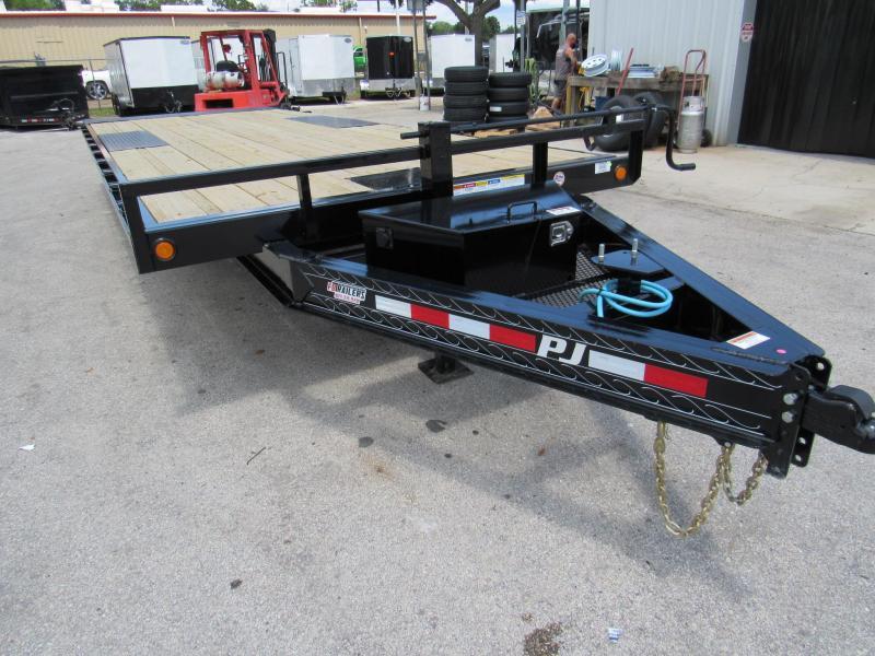 2020 PJ Trailers 22ft Power Tilt Equipment Trailer