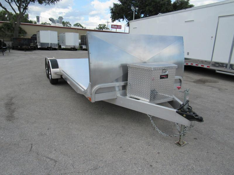 2017 USED 20' ATC OPEN CAR TRAILER W/ ROCK GUARD TOOL BOX and 5200# TORSION AXLES