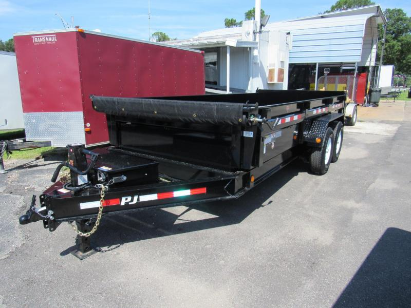 2019 PJ Trailers 7x16 2 ft sides Dump Trailer