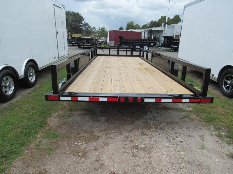 2019  20 ft HD Slide in Ramps Equipment Trailer BY PJ TRAILERS