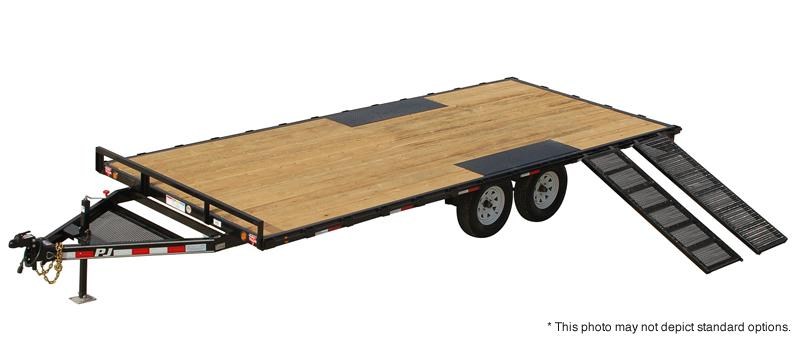 "2018 PJ Trailers 18' Light Duty Deckover 5"" Channel Trailer"