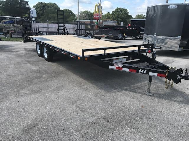 "2018 20' Med. Duty Deckover 6"" Channel Trailer by PJ Trailers"