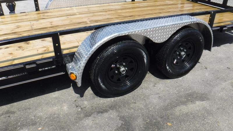 "2018 UL  20' x 83"" Tandem Axle Channel Utility Trailer"