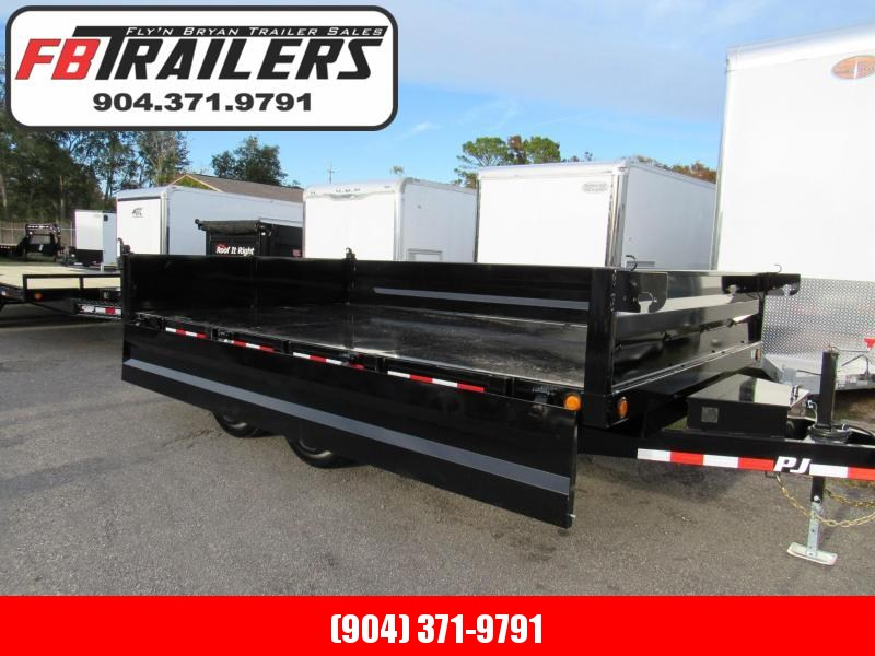 2019 PJ Trailers 14ft Deckover Drop Side Dump Trailer