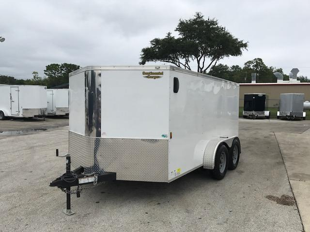 2018 7x12 USED  Enclosed Cargo Trailer LOW PRO