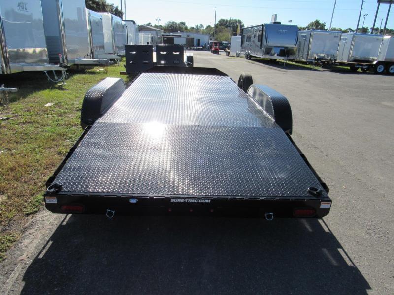 2019 Sure-Trac 7X18 Steel Deck Open Car / Racing Trailer