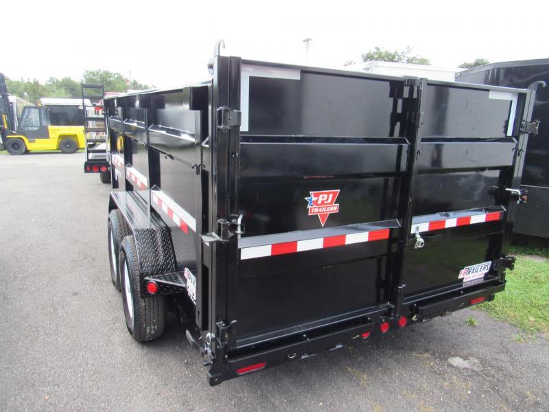 2020 PJ Trailers 7X14 4ft High Side Dump Trailer