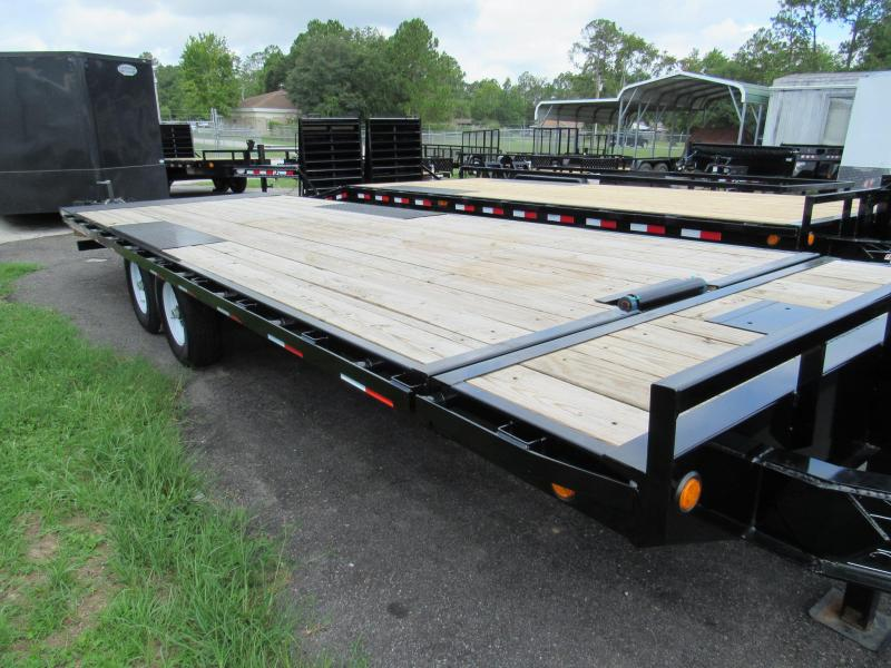 2020 PJ Trailers 24' Power Tilt Deckover Equipment Trailer