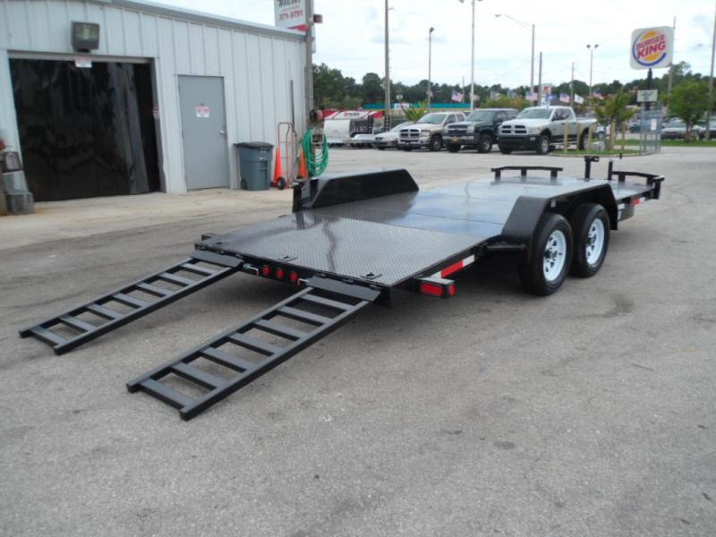 2017 7x18 Open Car Hauler By  Anderson Manufacturing