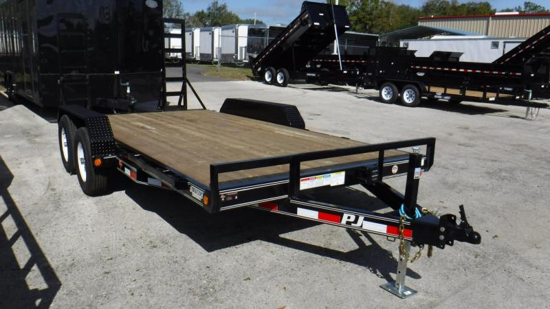 "2018  CE 83""x16 Equipment Trailer by PJ Trailers"
