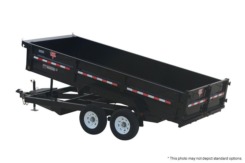 2019 7x16 XL Dump Trailer by PJ Trailers