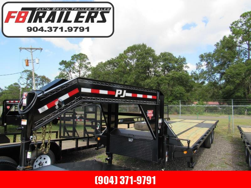2019 PJ Trailers 30 ft Hydraulic Dove Tail Gooseneck Equipment Trailer