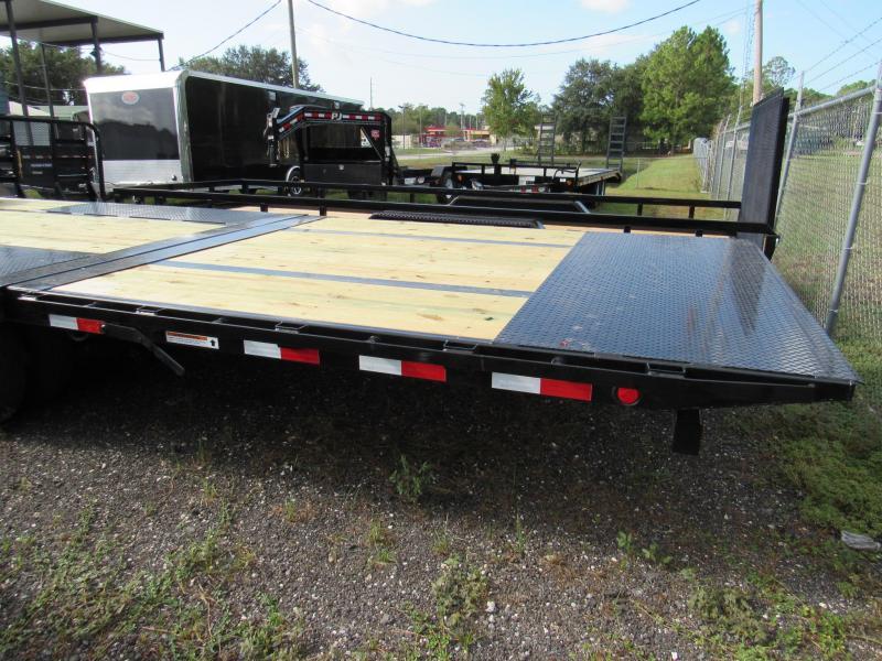 2019 PJ Trailers 30 ft Hydraulic Dove Tail Gooseneck Equipment Trailer