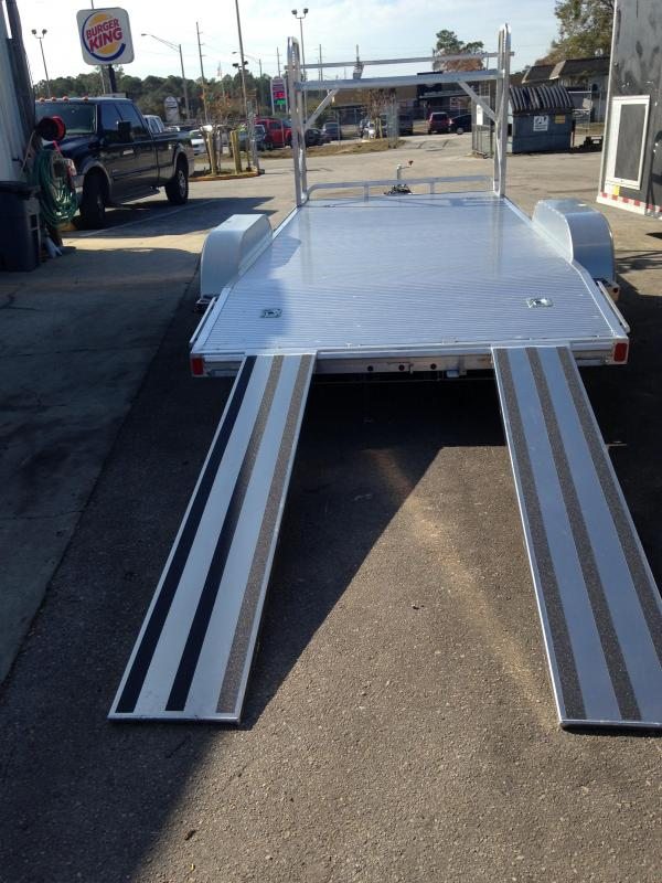 2018 18'  Open Car Hauler With Tire Rack by ATC