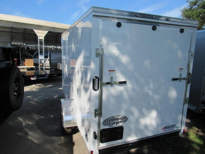 2019 Continental Cargo 6X12 Single Axle Enclosed Cargo Trailer