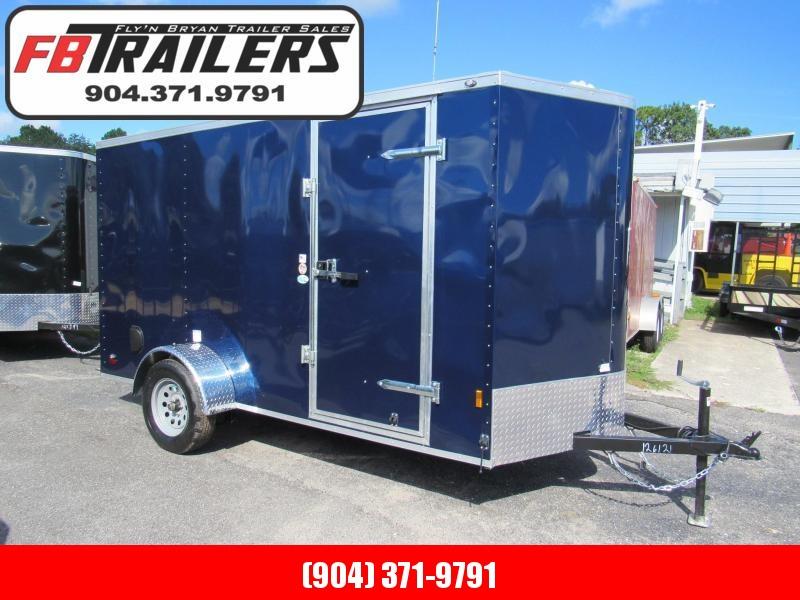 2020 Continental Cargo 6X12 Indigo Blue Enclosed Cargo Trailer