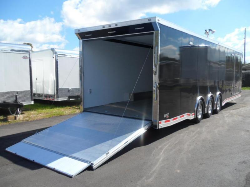 2017 32' Quest 405   All Aluminum Spread Axle Race Trailer by ATC