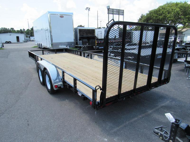 2018 PJ Trailers 20ft with Ramp and Side Load Rails Utility Trailer