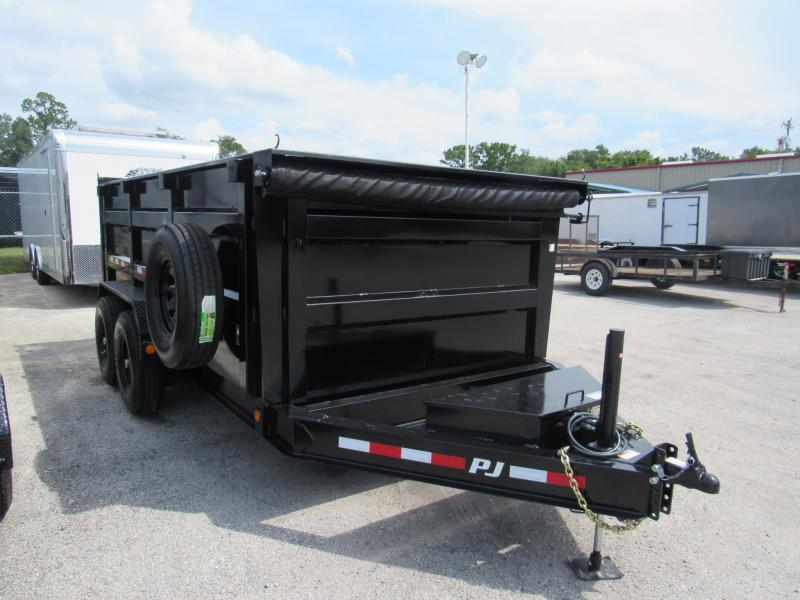 2019 PJ Trailers 7X14 LOW PRO 4 FT HIGH SIDE DUMP Dump Trailer