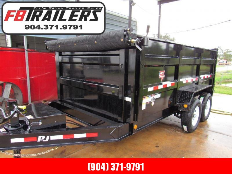 2020 PJ Trailers 14 with 4 High Sides Dump Trailer
