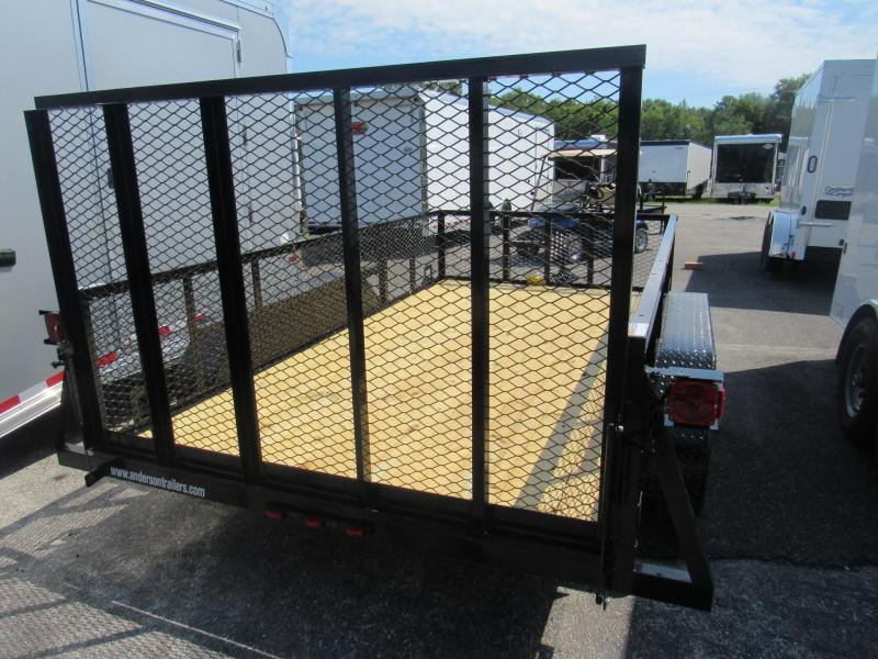 2020 Anderson Manufacturing 6x12 with 2ft Mesh Sides Utility Trailer