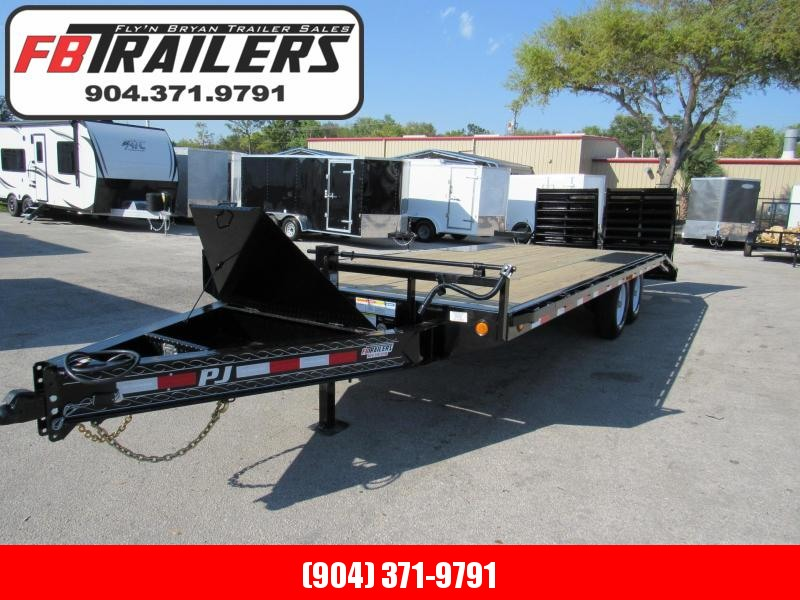 2020 PJ Trailers 22 ft with Monster Ramps Equipment Trailer