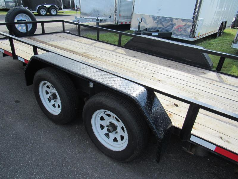 2017 Anderson Manufacturing 6X16 With Slide in Ramps Utility Trailer