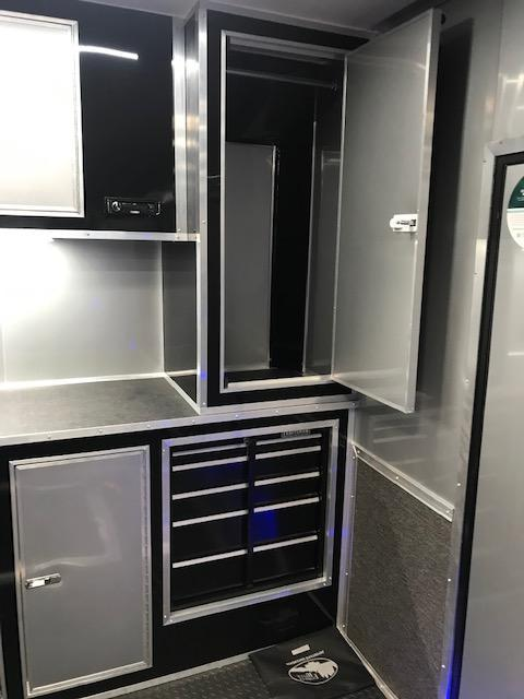 2020 32' Black Out  Eliminator Race Trailer by Cargo Mate