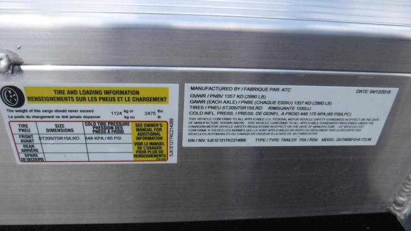 2019 ATC 6x12 Utility Trailer