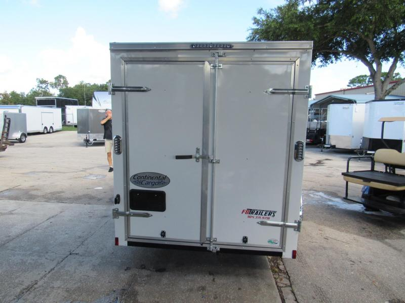 2020 Continental Cargo 6X12 With Rear Double Doors Enclosed Cargo Trailer