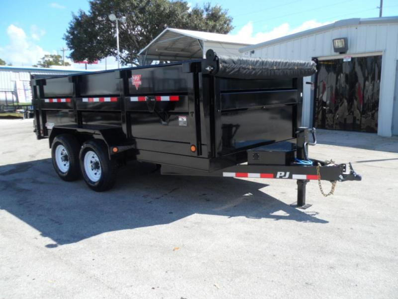 2018 7x14 Low Pro High Side Dump Trailer by PJ Traillers