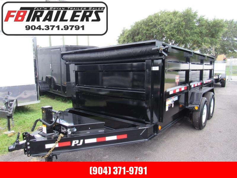 2020 PJ Trailers 7X14 4ft High Sides Dump Trailer