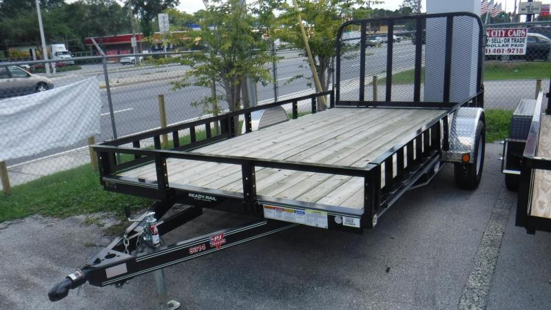 2018 7x14 Utility Trailer With Side Ramps by PJ Trailers