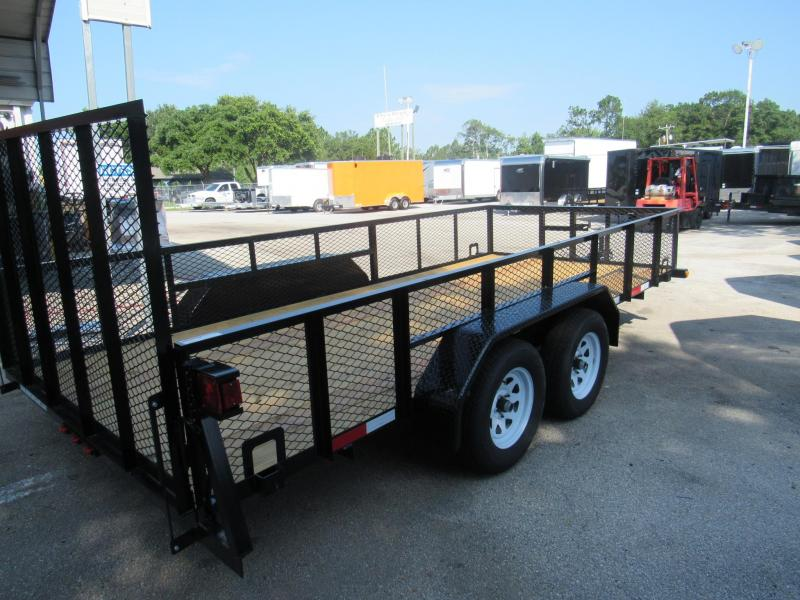 2018 Anderson Manufacturing 7X16 UTILITY 2 MESH SIDES Utility Trailer
